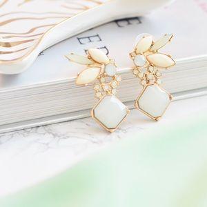 Adia Kibur Crystal Wing Earrings